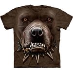 Zombie Pitbull Face Adult Plus Size T-Shirt 43-1033710