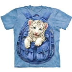 Backpack White Tiger Adult Plus Size T-Shirt 43-1034330