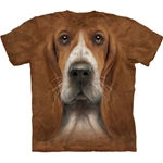 Basset Hound Head Adult Plus Sizee T-Shirt 43-1036070