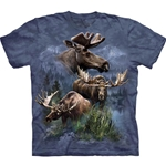 Moose Collage Adult Plus Size T-Shirt