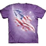 Patriotic Dolphins Adult T-Shirt 3X-Large
