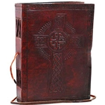 Celtic Cross Leather Blank Book 45-BBBCCELC