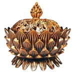 Lotus Blossom Incense Burner  - Brass