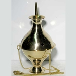 Medium Brass Hanging Incense Burner 45-IBHANM