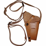 US WWII Leather Shoulder Holster for M1911A1 .45 - Russet Repro