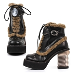Steampunk Victorian Cameo Ankle Boots