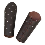 Studded Brown Archery Leather Arm Guard / Bracer 62-8327