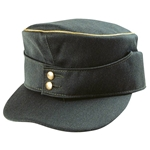 German M43 Generals Field Cap - Gold Piping - WW2 Repro