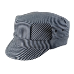 Hickory Stripe Engineer Cap