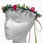 Cherry Blossom Wreath - Red