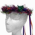 Floral Hair Wreath in Purple and Orange