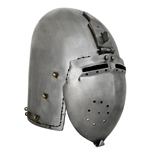 Klappvisier Bascinet Helmet, Large, 2mm Thick Steel AB0428