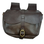 Medieval Leather Belt Pouch - Brown