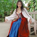 Celtic Dress with Petticoat DK-CD