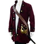 Pirate Sword Baldric with Brass Buckle