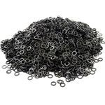 Loose Chainmail Rings - Blackened Solid Flat Ring