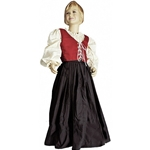 Kids Long Gathered Medieval Skirt KS-250