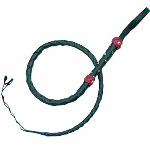 Split Hide Bullwhip Black Mini OC008 at By The Sword Inc