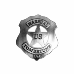 US Marshall Tombstone Badge OD105