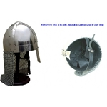 Spangenhelm with Chainmail Aventail Ready For Use RFU737