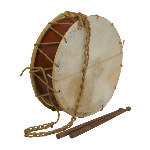 Medieval Tabor Drum 12 Inch with Sticks TB12