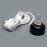 Electric Votive Lamp with White Cord