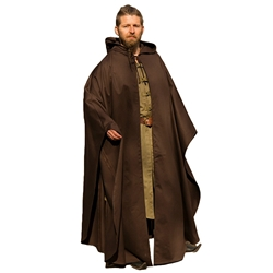 Medieval Hooded Cloak - Brown