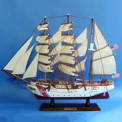 USCG Training Tall Ship Eagle - Wooden Model 21in