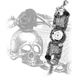 Rose Garden Watch Pewter Alchemy 17-AW10