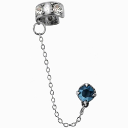 Diamond Pall Cuff Stud Earring Pewter Alchemy E195
