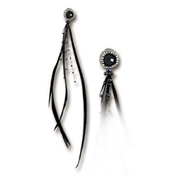 Raven's Eye Earring Pewter Alchemy E265