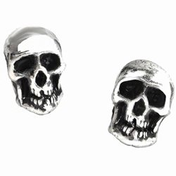 Death Studs Earrings Pewter Alchemy E76