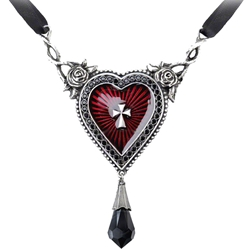 The Sacred Heart Necklace Pewter Alchemy P466