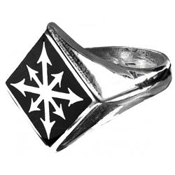 Chaos Signet Ring Pewter Alchemy R99