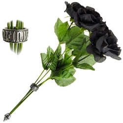 Alchemist Bouquet of Black Imitation Roses 17-ROSE2