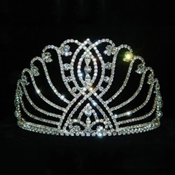 Large Intersecting Scroll Tiara - Contoured Base 172-11916