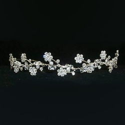 Crystal Beaded Flower Tiara 172-12010