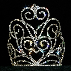 Victorian Heart Crown Tiara - Medium 172-12558