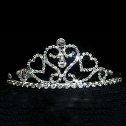 Symmetrical Hearts Tiara 172-12580