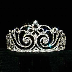 Diamond Top Swirl Tiara 172-12736
