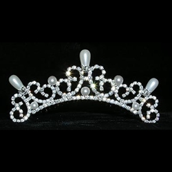 Pearl Water Spray Tiara Comb 172-13836