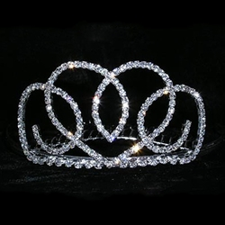 Heart Ribbon Tiara Comb