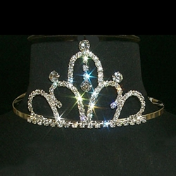 Rhinestone Tiara - High Dangle Tiara 172-8806