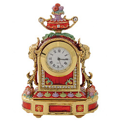 Round Clock Jeweled Box