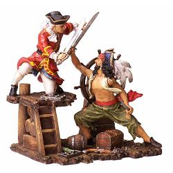 Pirates and Navy Fighting Statue 18-6225
