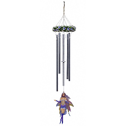 Gemstone Fairy Moonstone Wind Chime