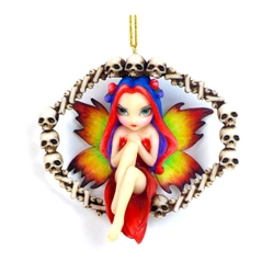 Rainbow of Bones Fairy Strangeling Ornament