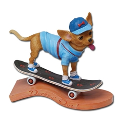 Decked Out Traveldogs Chihuahua Statue