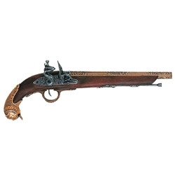 German Flintlock Pistol ca 1700s Brass Non Firing
