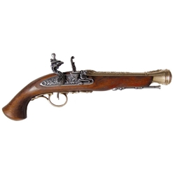 18th Century Flintlock Pistol Brass - Non-Firing